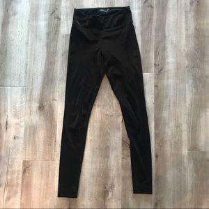 Talula Aritzia Legging Velvet Black Pant XS